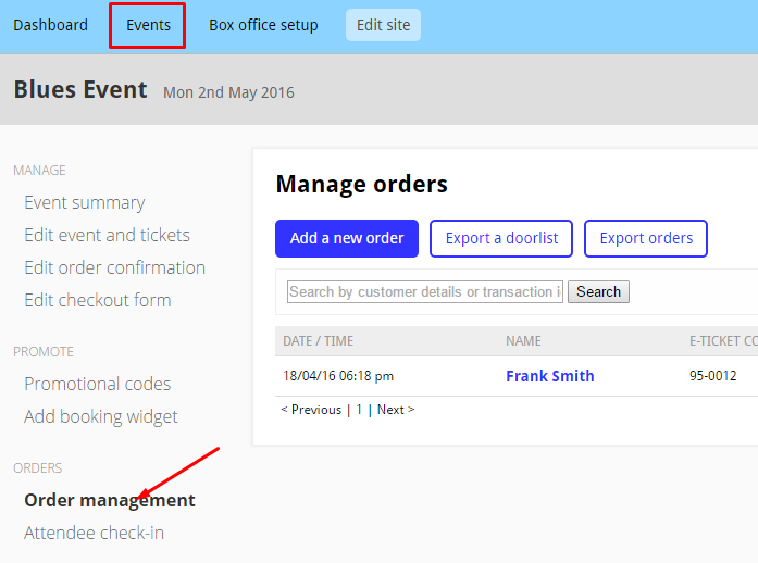Wix-Ordermanagement